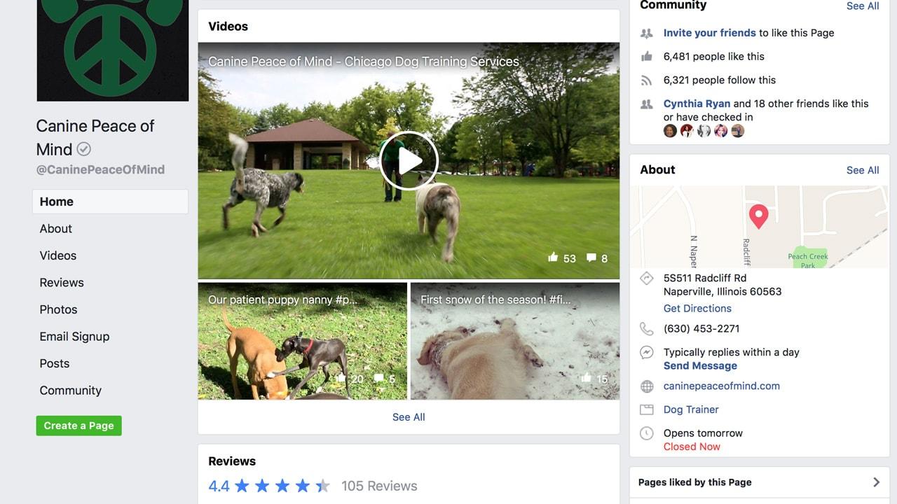 Canine Peace of Mind's Facebook