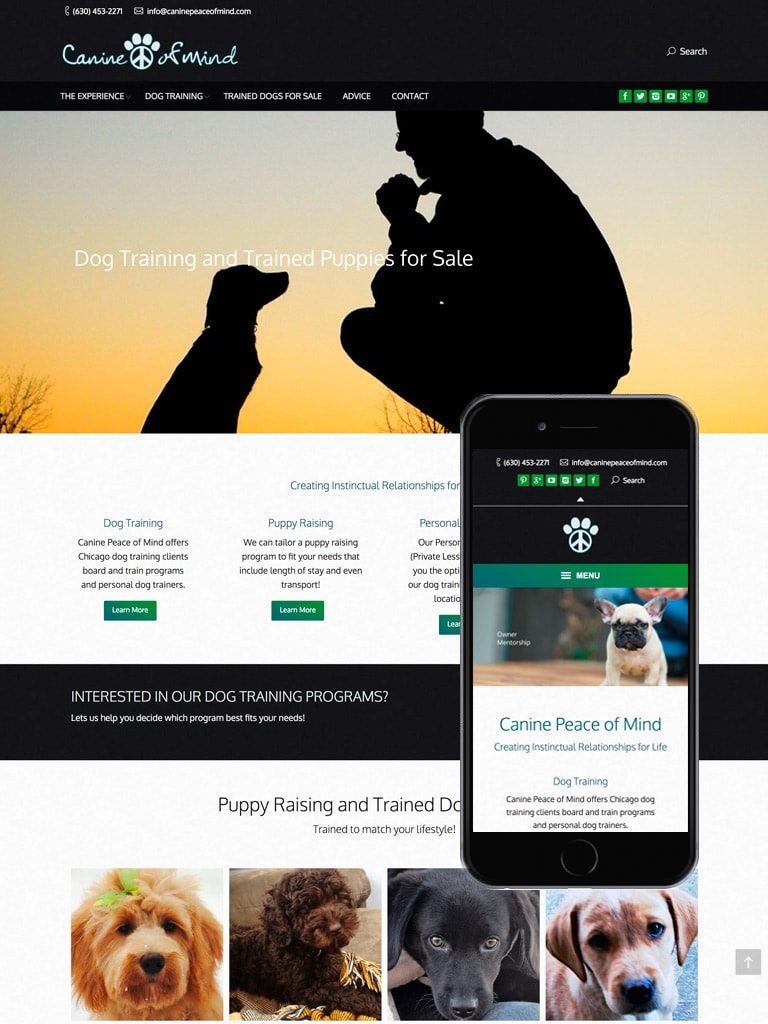 Canine Peace of Mind Web Design