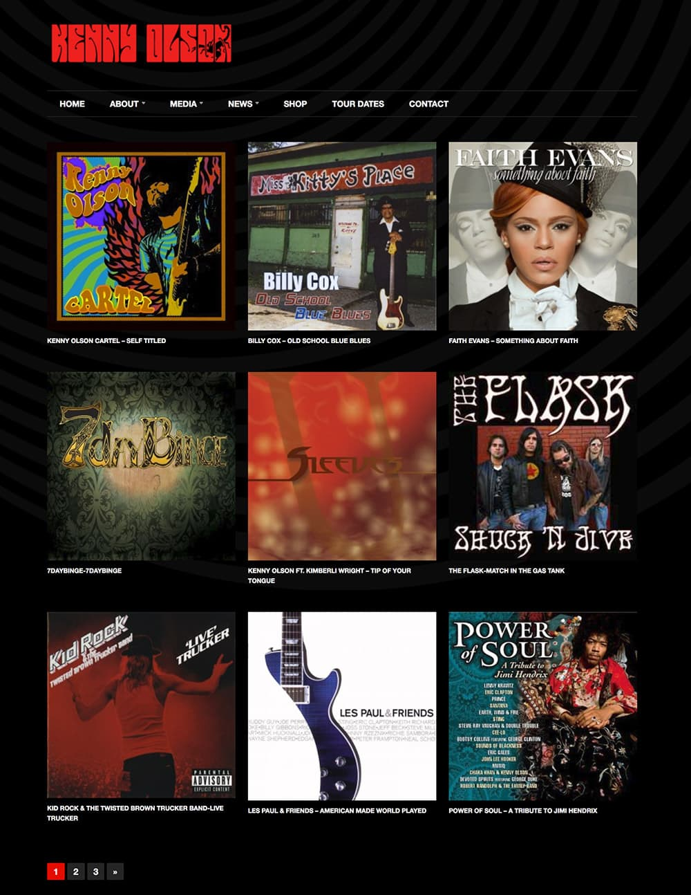 Kenny Olson Website Design - Discography Pages